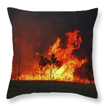 Wildfire Flames Throw Pillow