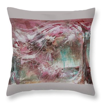 Wind Dance Throw Pillow by Mary Wolf