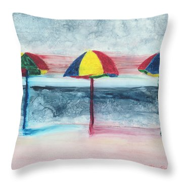 Throw Pillow featuring the painting Wind Ensemble by Kathryn Riley Parker