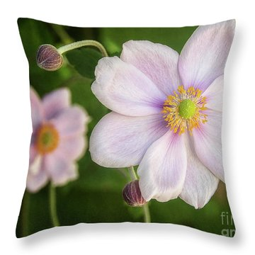 Throw Pillow featuring the photograph Wind Flower by Kim Andelkovic