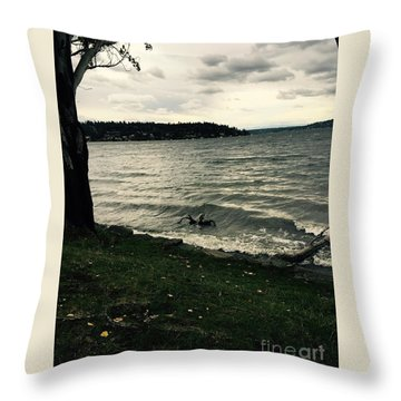 Wind Followed By Waves Throw Pillow