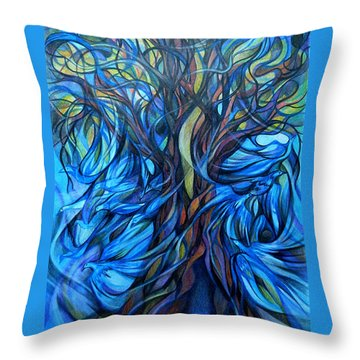 Wind From The Past Throw Pillow