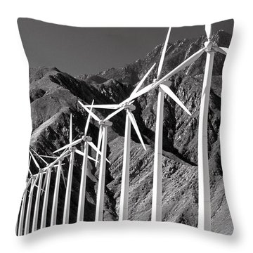 Throw Pillow featuring the photograph Wind Generators by Jeff Phillippi