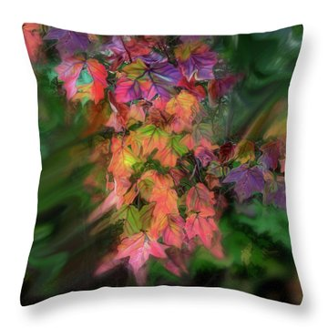Wind In The Maple Throw Pillow