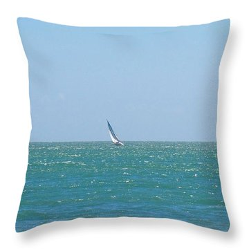 Wind In The Sails Throw Pillow