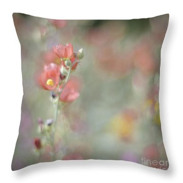 Globemallow Impressionism Throw Pillow