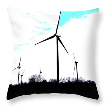 Wind Mills Throw Pillow