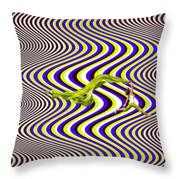 Wind Of Freedom Throw Pillow
