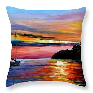 Wind Of Hope Throw Pillow by Leonid Afremov