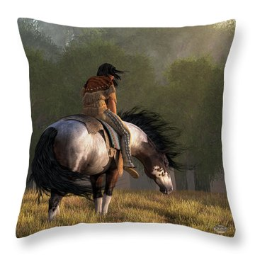 Throw Pillow featuring the digital art Wind Of The Forest by Daniel Eskridge