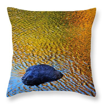 Wind On Water Throw Pillow by Aimelle
