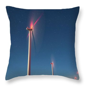 Throw Pillow featuring the photograph Wind Power by Cat Connor