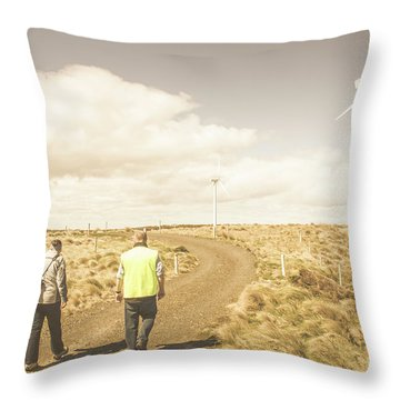 Wind Power Travel Tour Throw Pillow