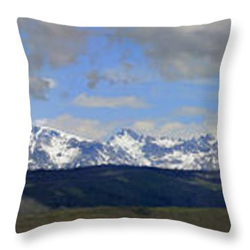 Dm9504-wind River Range Panorama  Throw Pillow