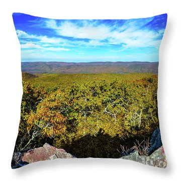 Wind Rock Panorama Throw Pillow
