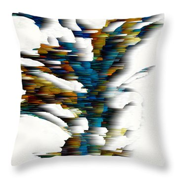 Throw Pillow featuring the painting Wind Series 08.072311wscvss by Kris Haas
