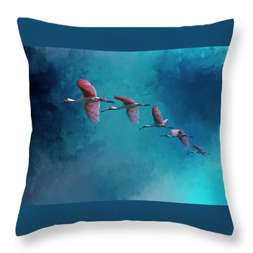 Wind Surfing Throw Pillow