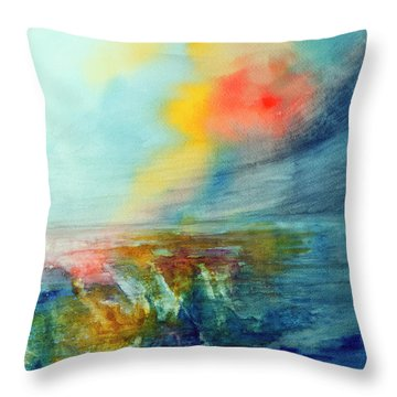 Wind Swept Throw Pillow