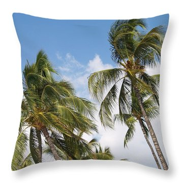 Wind Though The Trees Throw Pillow by Athala Carole Bruckner