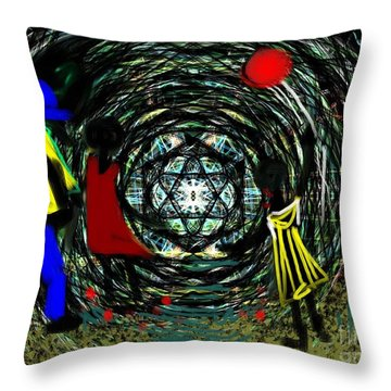 Wind Tunnel Throw Pillow by Elaine Lanoue