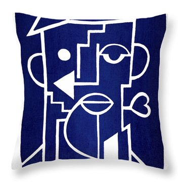Wind Up Man By Erod Art Throw Pillow