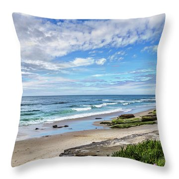 Throw Pillow featuring the photograph Windansea Wonderful by Peter Tellone