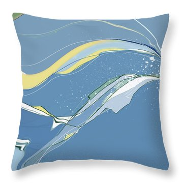 Throw Pillow featuring the digital art Windblown by Gina Harrison