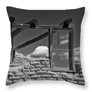 Winddow View Throw Pillow by Carolyn Dalessandro