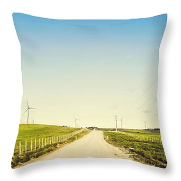 Windfarm Way Throw Pillow