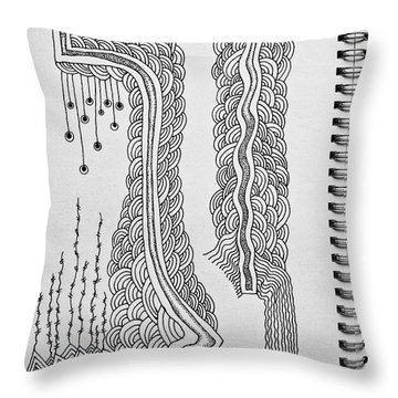 Winding  Throw Pillow