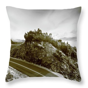 Winding Gordon River Road Throw Pillow
