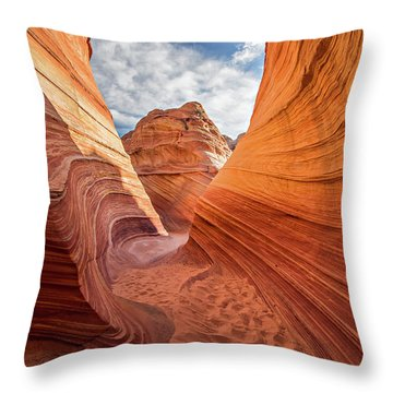 Winding Stripes Of Sandstone Throw Pillow