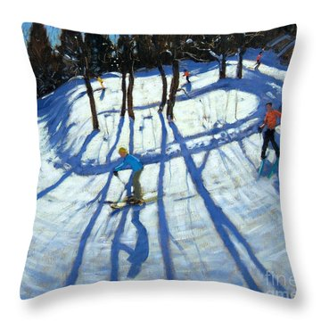 Winding Trail Morzine Throw Pillow by Andrew Macara