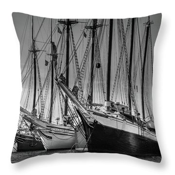 Windjammer Fleet Throw Pillow