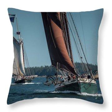 Windjammer Race Throw Pillow