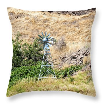 Windmill Aerator For Ponds And Lakes Throw Pillow