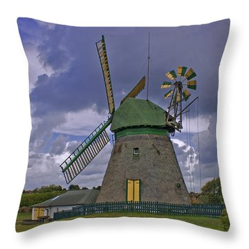 Windmill Amrum Germany Throw Pillow