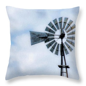 Throw Pillow featuring the photograph Windmill Art -010 by Rob Graham