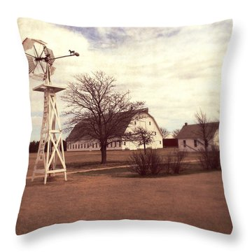 Throw Pillow featuring the photograph Windmill At Cooper Barn by Julie Hamilton