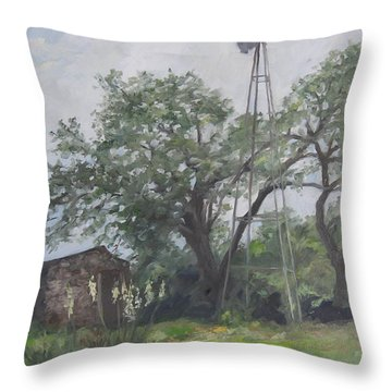 Windmill At Genhaven Throw Pillow