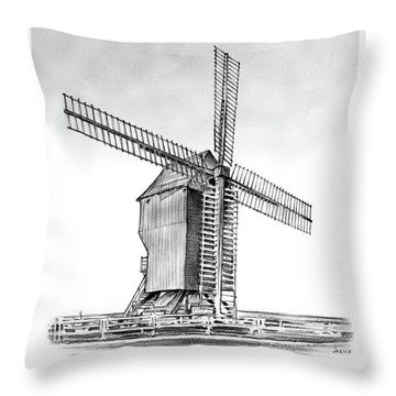Windmill At Valmy Throw Pillow