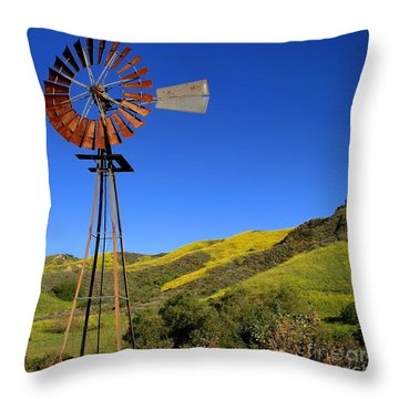 Windmill Throw Pillow by Henrik Lehnerer