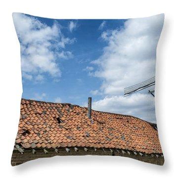 Windmill In Belgium Throw Pillow
