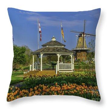 Windmill Island Gardens  Throw Pillow