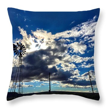 Windmill Lonely Throw Pillow