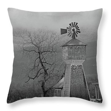 Windmill Of Old Throw Pillow