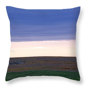 Windmill On The Prairie Throw Pillow