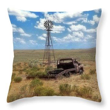 Windmill Over Lenzen Throw Pillow