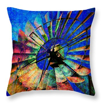Windmill Power Throw Pillow