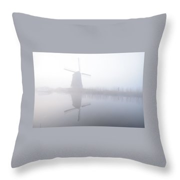 Windmill Reflection Throw Pillow